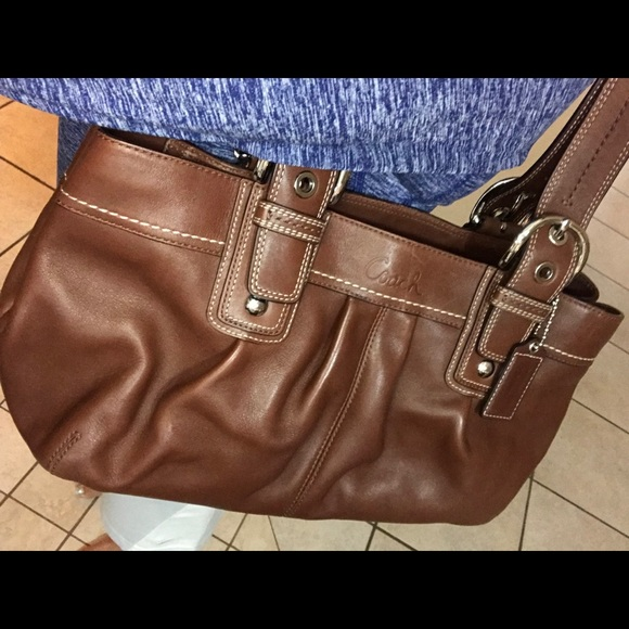 Coach Handbags - Brown Leather Coach Shoulder Bag